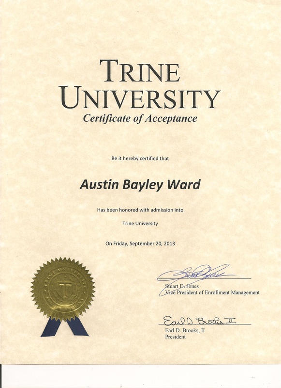 College acceptance letters austin ward yelopaper Choice Image